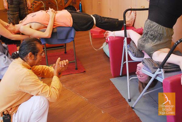 Yoga Therapy Course, Himalayan Iyengar Yoga Cnetre, Dharamkot, India